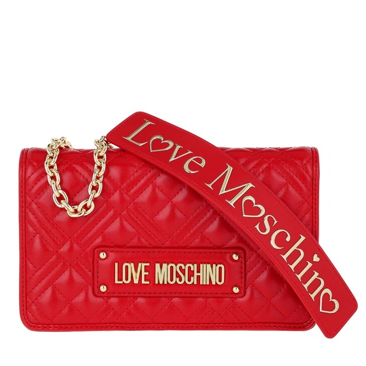 Handtasche, Love Moschino, Borsa Quilted Nappa Crossbody Bag Chain Rosso