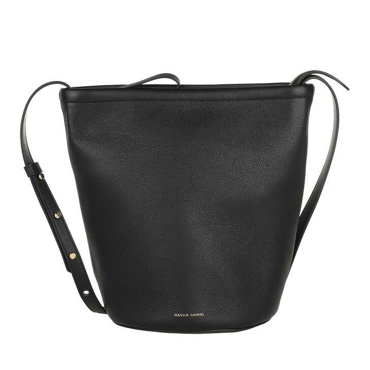 bags, Mansur Gavriel, Zip Bucket Bag Leather Black
