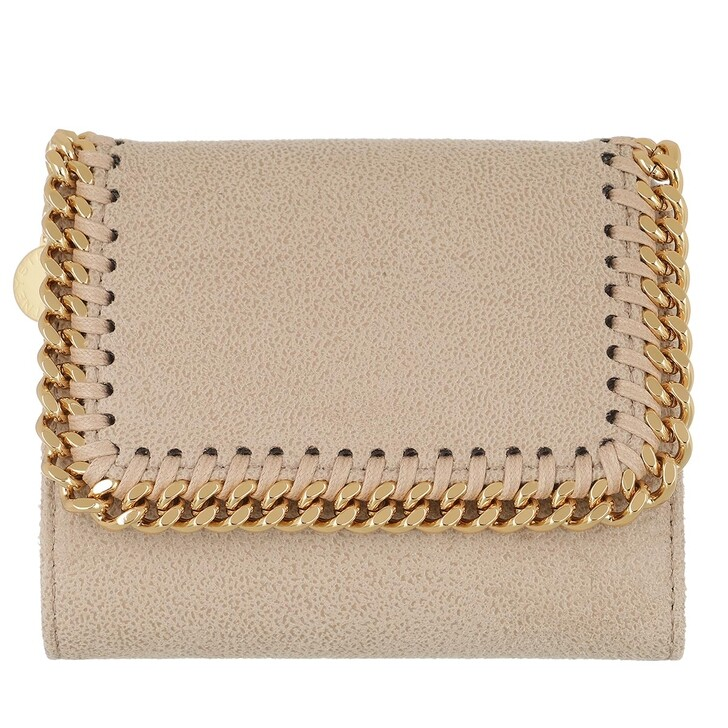 wallets, Stella McCartney, Falabella Small Flap Wallet  Butter Cream