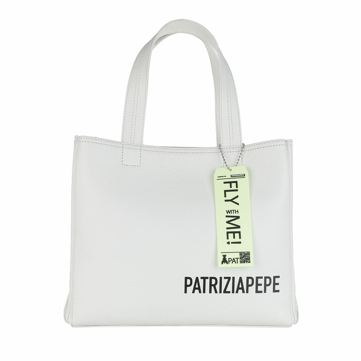 bags, Patrizia Pepe, Tote Bianco