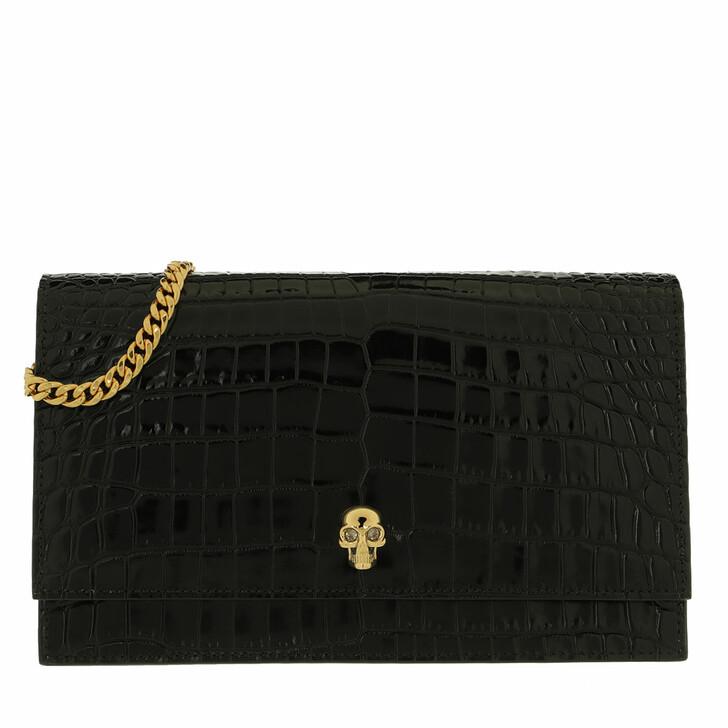 bags, Alexander McQueen, Skull Crossbody Bag Patent Leather Black