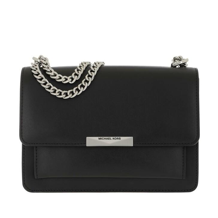 Handtasche, MICHAEL Michael Kors, Large Gusset Shoulder Handbag  Leather Black