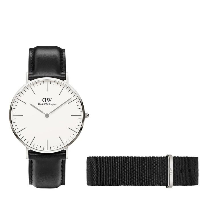 Uhr, Daniel Wellington, Sheffield 40mm + Cornwall Strap Silver/Black
