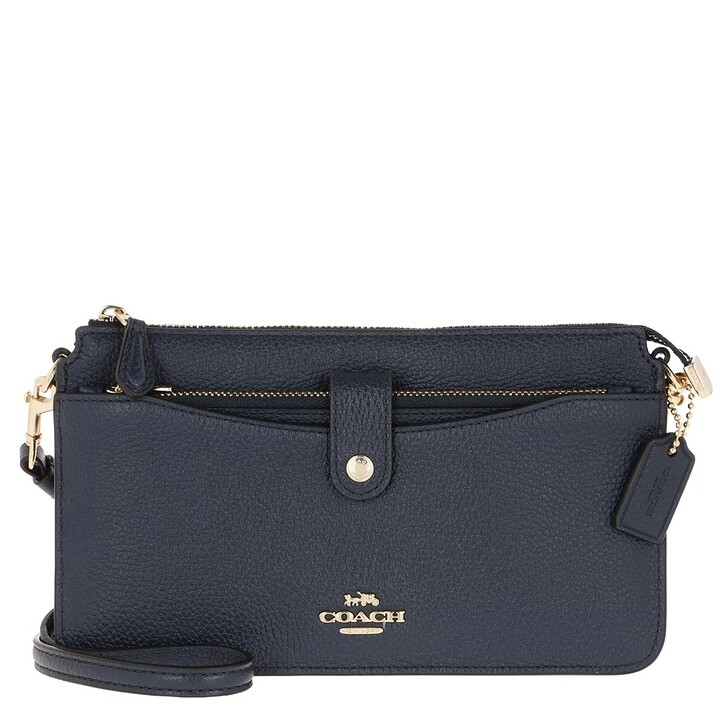 Handtasche, Coach, Polished Pebble Leather Crossbody Bag Blue