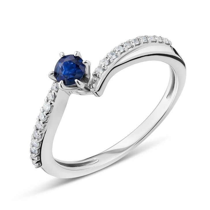 Ring, DIAMADA, 18KT Diamond and Sapphire Ring White Gold