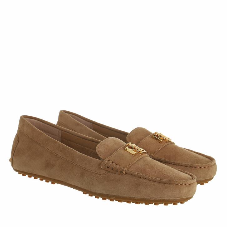 shoes, Lauren Ralph Lauren, Barnsbury Flats Casual Light Camel