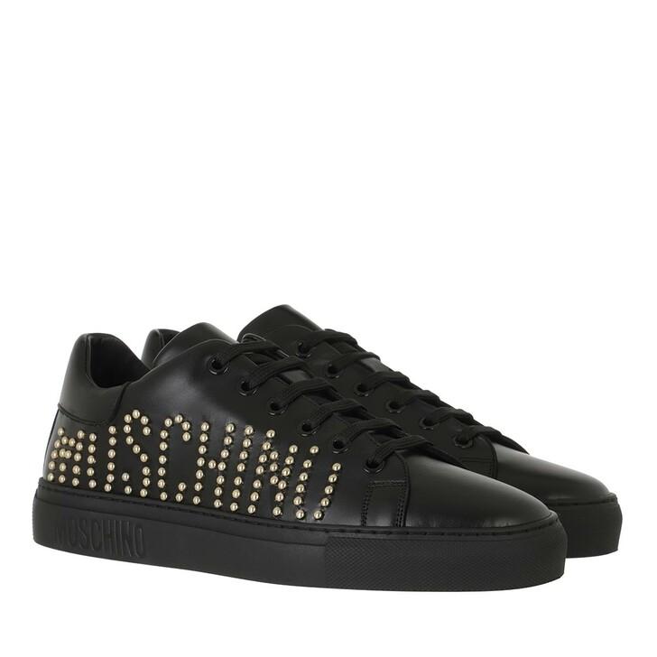 shoes, Moschino, Sneakerd Serena25 Vitello  Nero