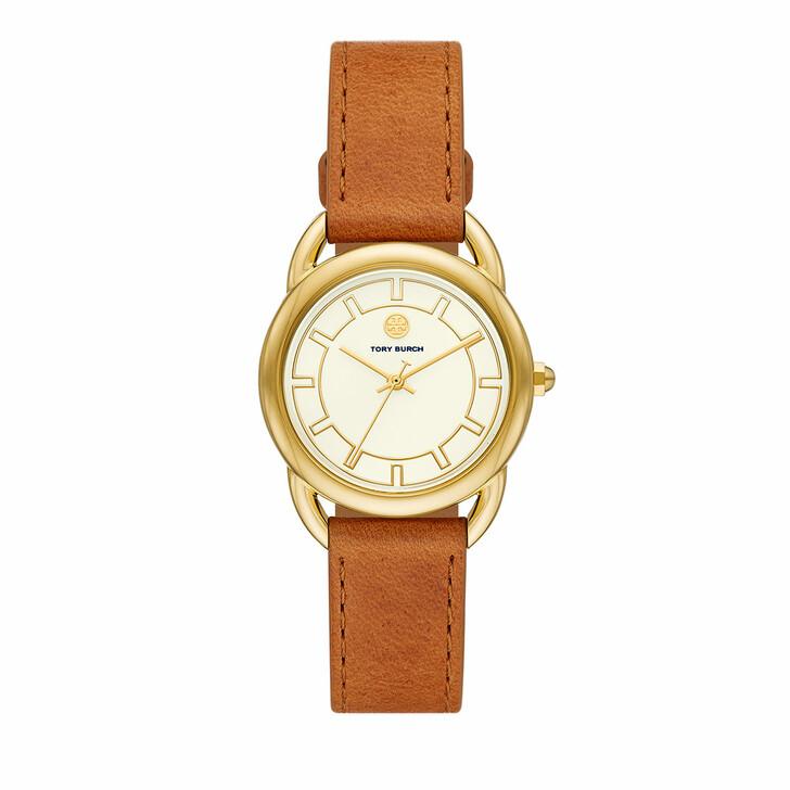watches, Tory Burch, Women's The Ravello Three-Hand Stainless Steel Wat Gold