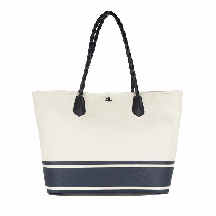 Handtasche, Lauren Ralph Lauren, Hutton 35 Tote Large Natural/Lauren Navy