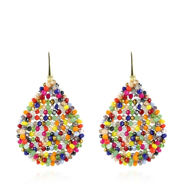Ohrring, LOTT.gioielli, Glassberry Closed Drop L Earrings Multicolor Dark