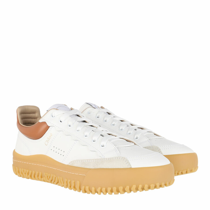 Schuh, Chloé, Franckie Sneakers Leather White/Beige