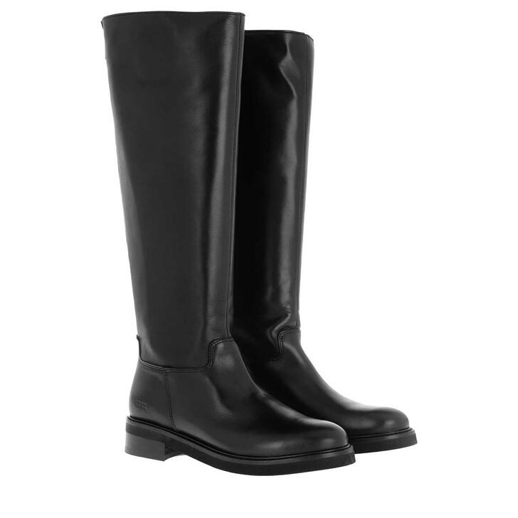 shoes, Nubikk, Sarray Zip Ladies Ankle Boot Black Leather