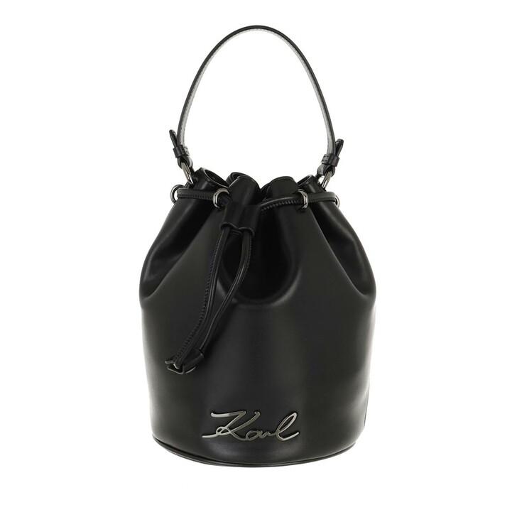 Handtasche, Karl Lagerfeld, Signature Bucket Black