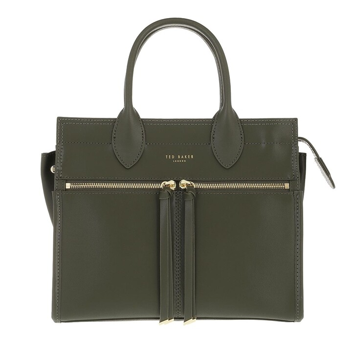 bags, Ted Baker, Reginaa Zip Detail Small Tote Bag Olive