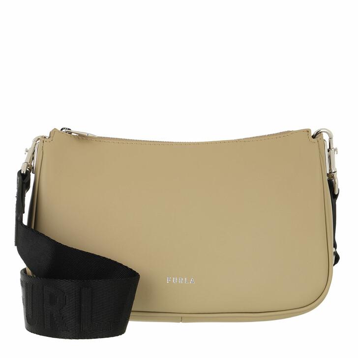 bags, Furla, Furla Moon Small Shoulder Bag Juta/Nero