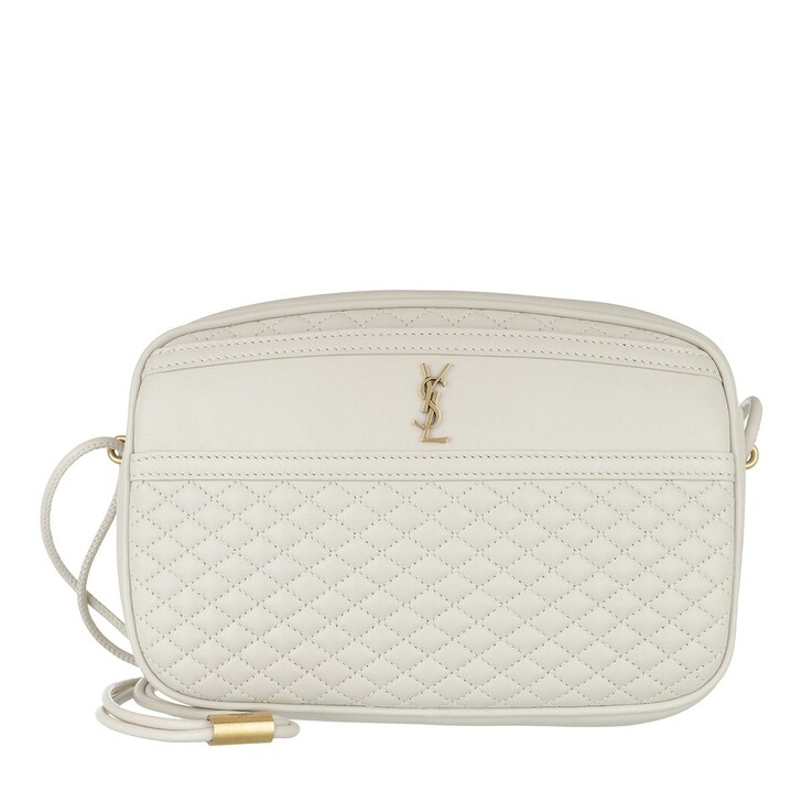 Handtasche, Saint Laurent, Victoire Camera Bag Quilted Lambskin Crema Soft