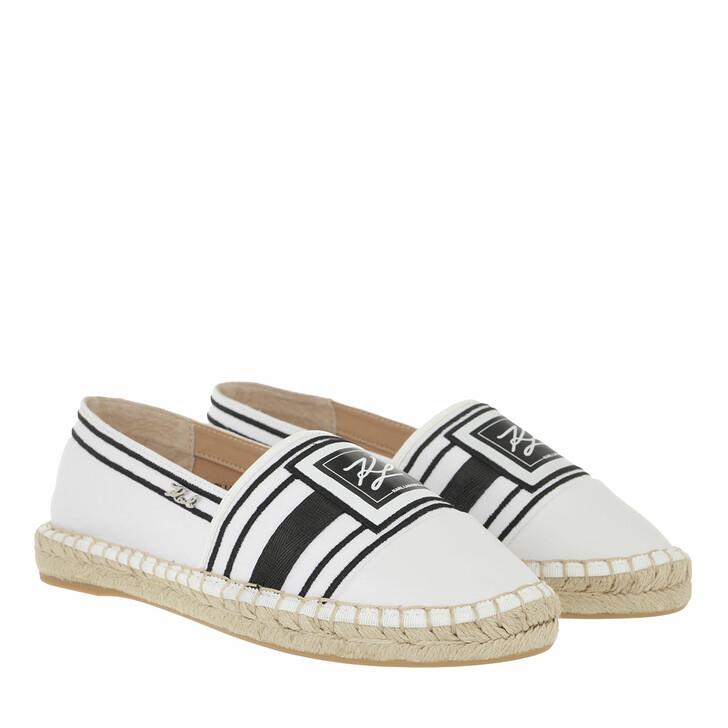 shoes, Karl Lagerfeld, KAMINI Signia Toe Slip On White Canvas/Black