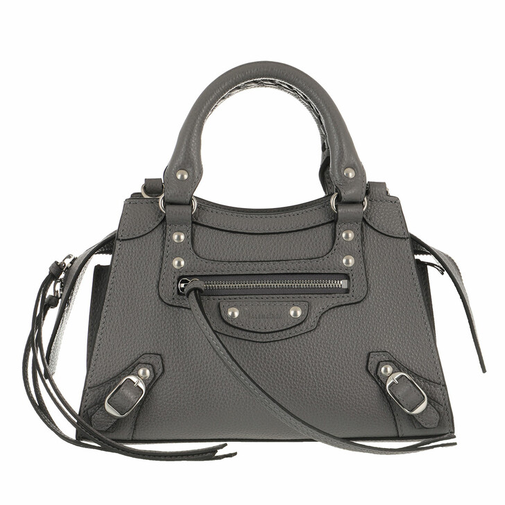 Handtasche, Balenciaga, Neo Classic Mini Top Handle Bag Grained Calfskin Dark Grey
