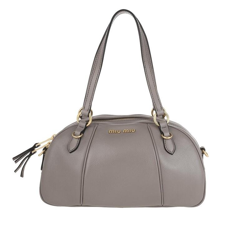 Handtasche, Miu Miu, Bowling Bag Leather Argilla