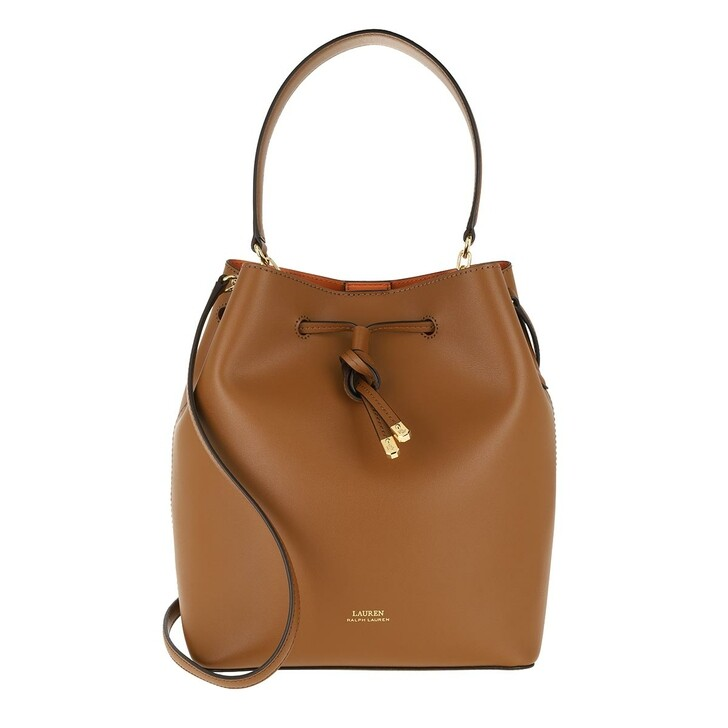 Handtasche, Lauren Ralph Lauren, Debby Drawstring Medium Lauren Tan/Monarch Orange