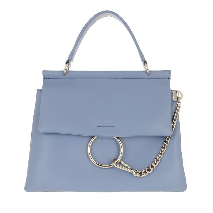 bags, Chloé, Faye Top Handle Bag Leather Gentle Blue