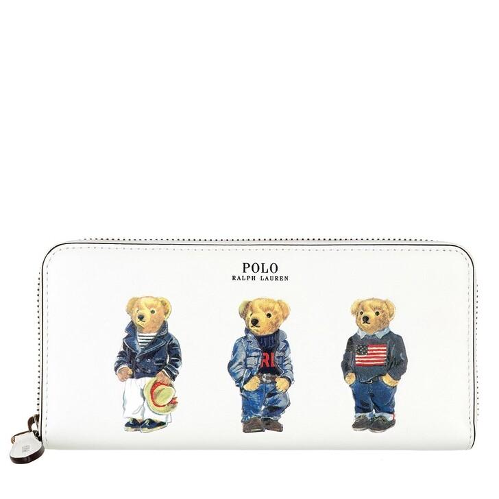 Geldbörse, Polo Ralph Lauren, Slim Zip Wallet Small White Multi