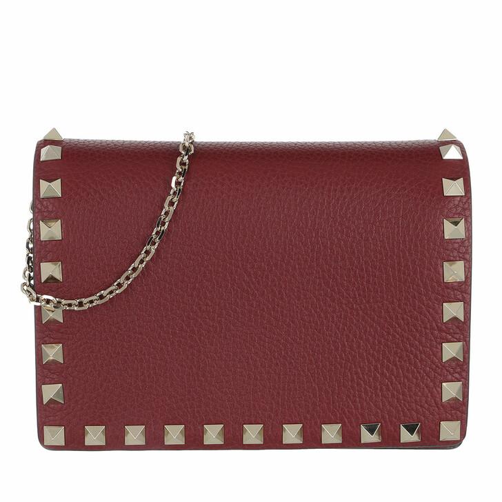 bags, Valentino Garavani, Rockstud Crossbody Bag Burgundy