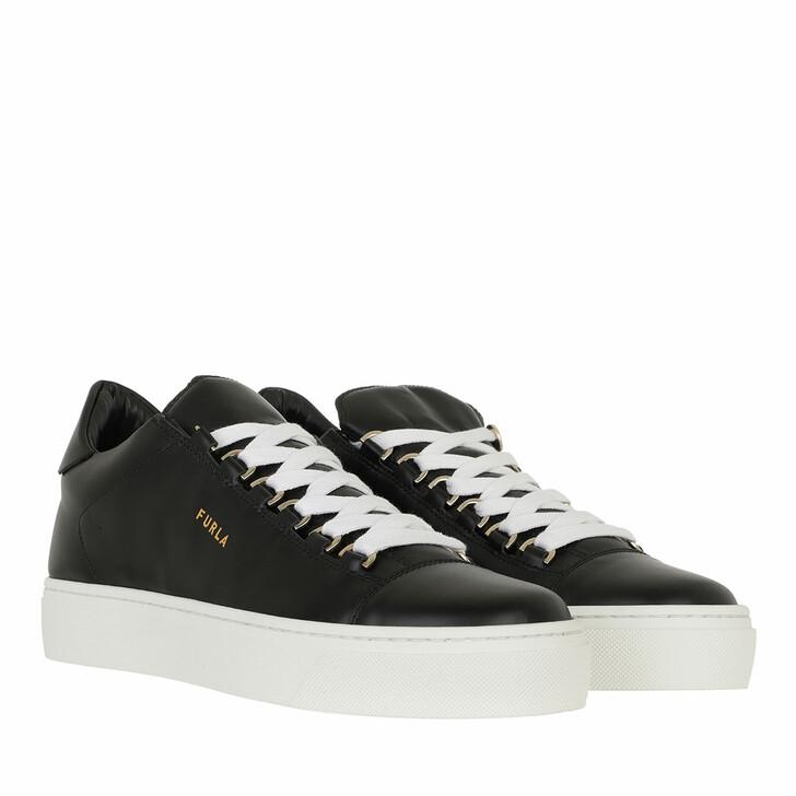 Schuh, Furla, Hikaia Low Lace-Up Sneaker T. 20 - Vitello Soft Nero