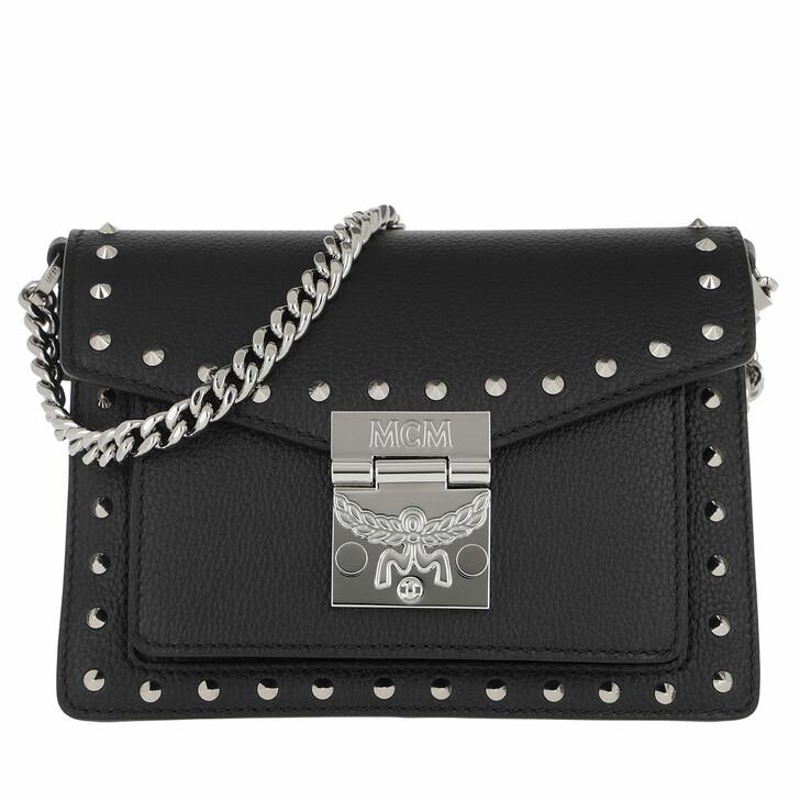 Handtasche, MCM, Patricia Studded Park Avenue Crossbody Mini Black
