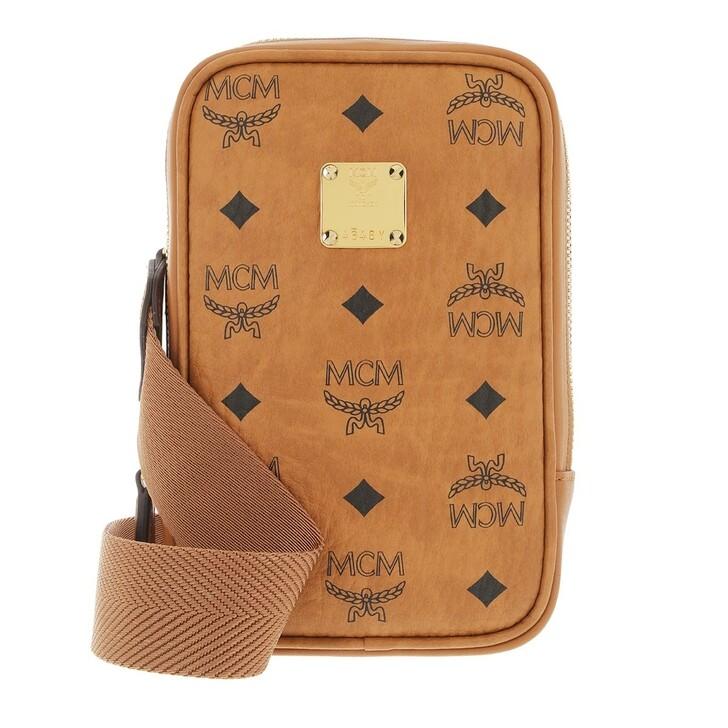 bags, MCM, Klara Visetos Belt Bag Mini Cognac