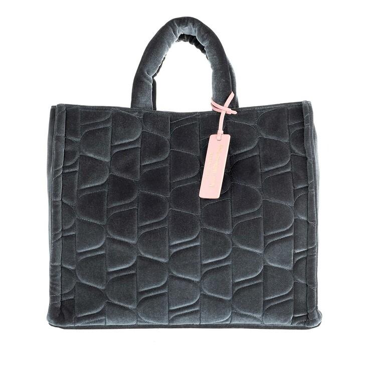 bags, Coccinelle, Never Without Bag Velvet Handbag  Shark Grey