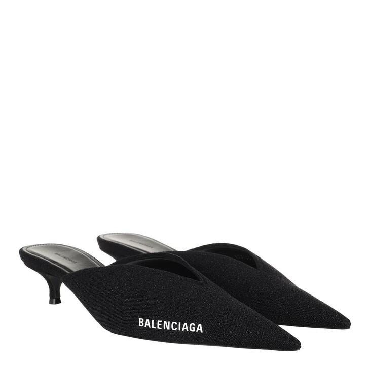 Schuh, Balenciaga, Knife Knit Heeled Mule Black/White