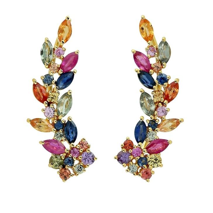earrings, Evél Juwel, RAINBOW FLOWER Earrings Yellow Gold