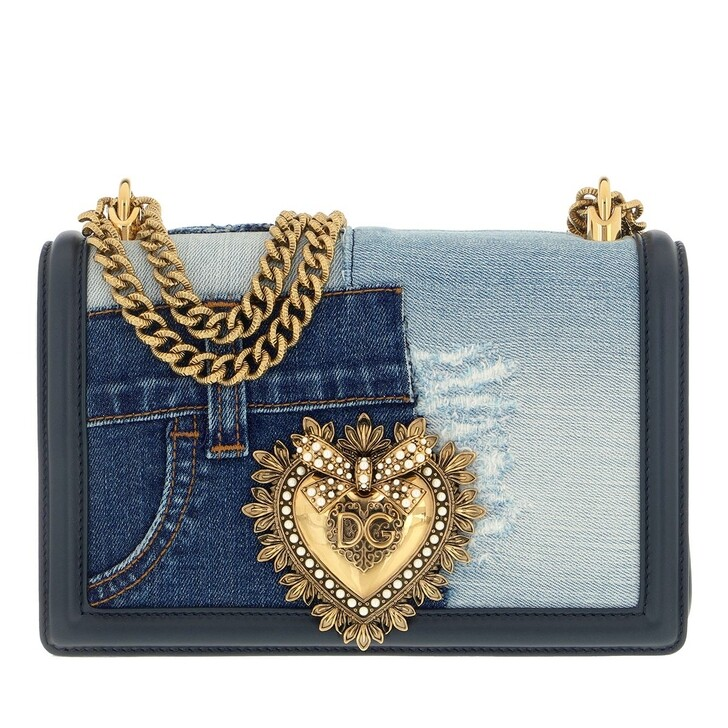 bags, Dolce&Gabbana, Devotion Medium Crossbody Bag Denim