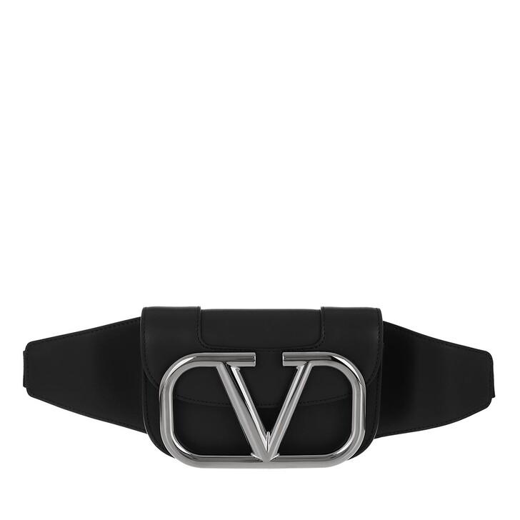 belt_bags, Valentino Garavani, Men V Crossbody Bum Bag Black