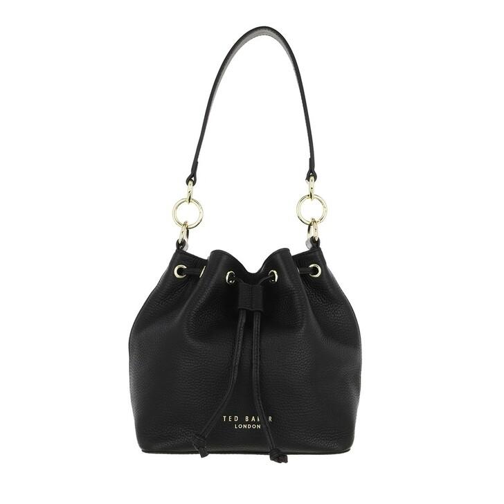 bags, Ted Baker, Aminah Branded Webbing Strap Bucket Bag Jet Black