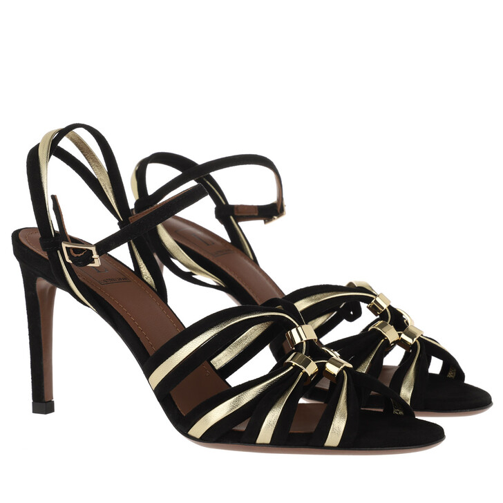 Schuh, L´Autre Chose, Suede Heel Black/Platinum