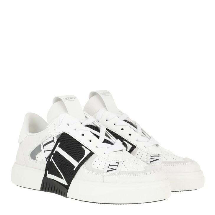 Schuh, Valentino Garavani, VLTN Low Top Sneakers Calf Leather White/Black