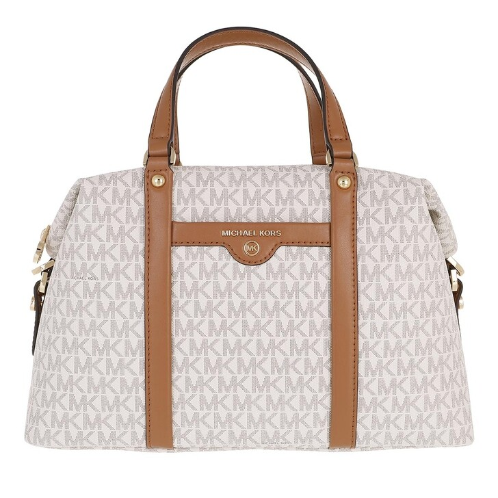 bags, MICHAEL Michael Kors, Beck Medium Satchel Vanilla/Acrn