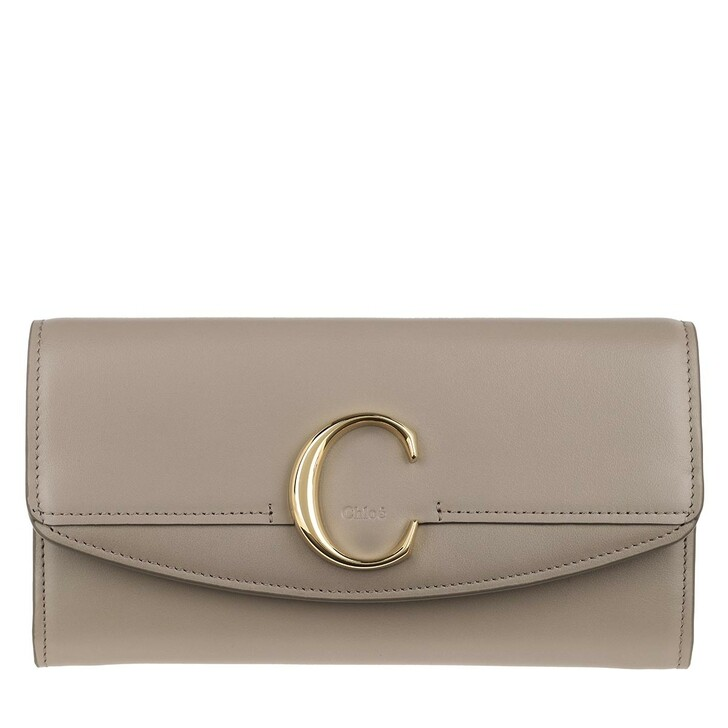 Geldbörse, Chloé, C Continental Wallet Leather Motty Grey