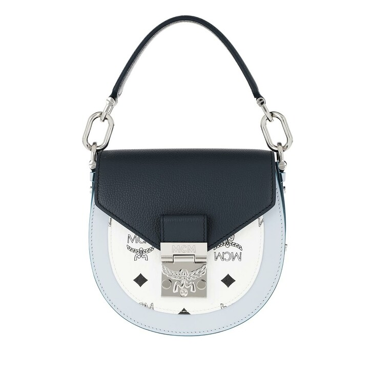 Handtasche, MCM, Patricia Visetos Mini Shoulder Bag Leather Mood Indigo