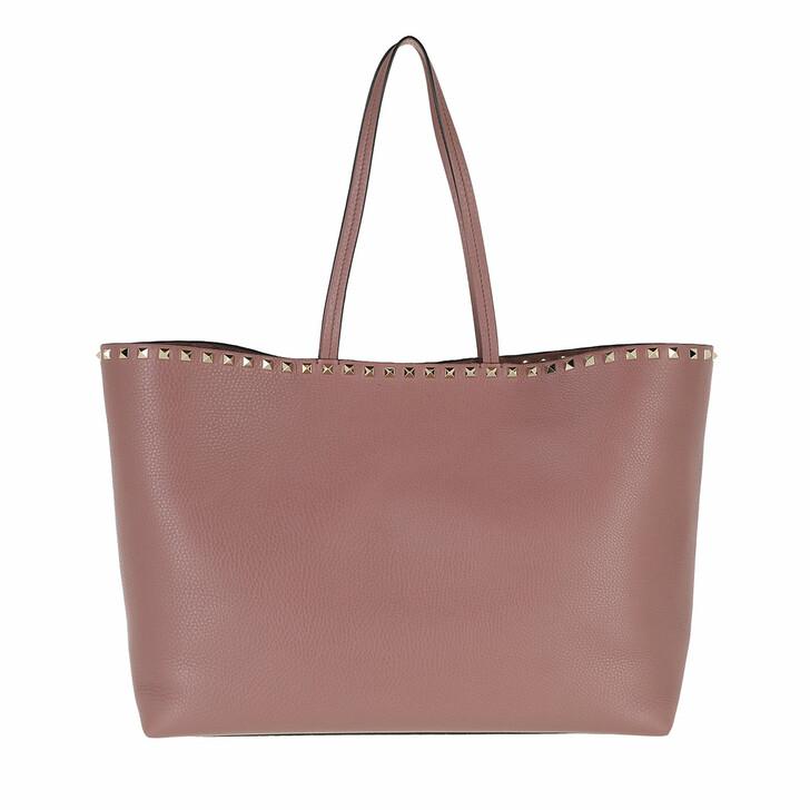 bags, Valentino Garavani, Rockstud Studded Shopping Bag Leather Nude