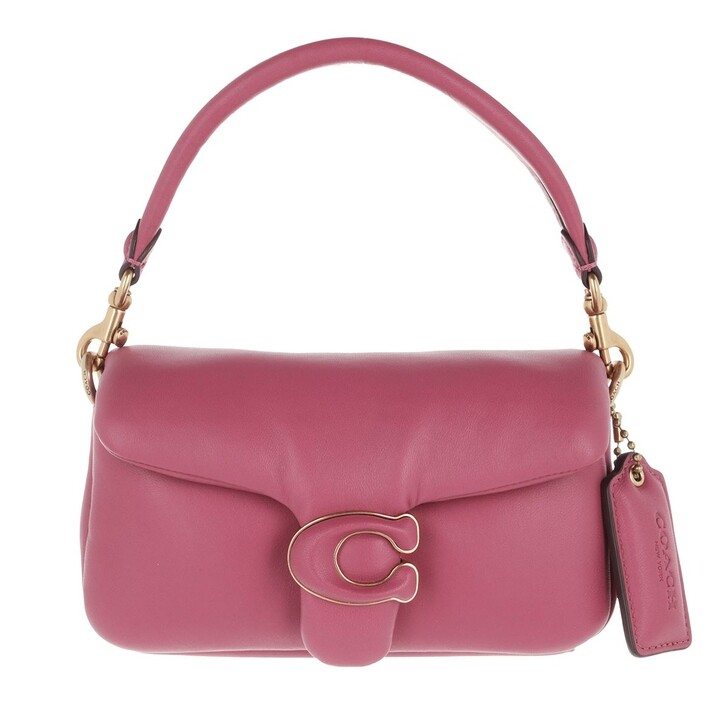 bags, Coach, Leather Covered C Closure Pillow Tabby Shoulder Ba B4/Rouge