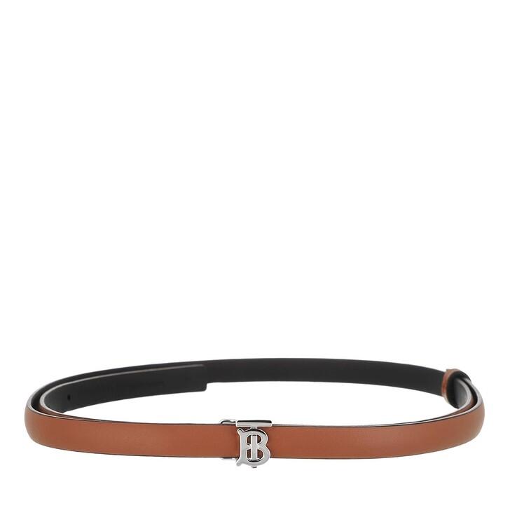 Gürtel, Burberry, Reversible Monogram Wrap Belt Leather Malt Brown/Black