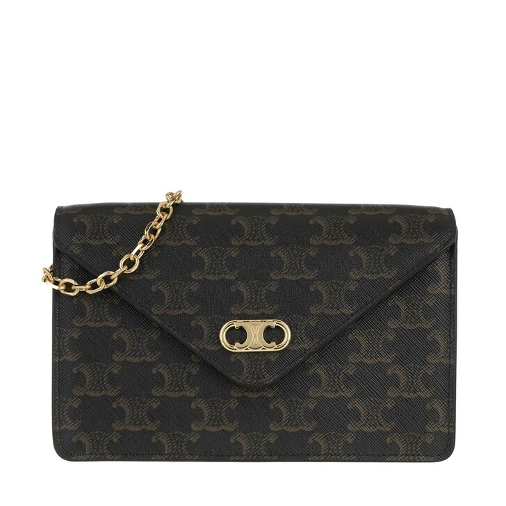 Handtasche, Celine, Chain Wallet Leather Tan