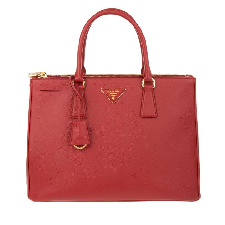 bags, Prada, Borsa A Mano Saffiano Lux Fuoco