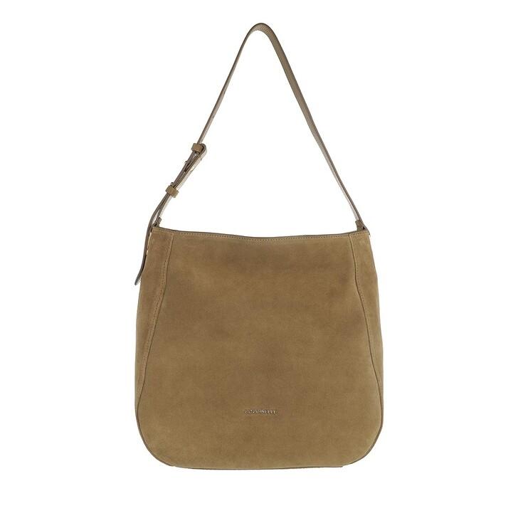 Handtasche, Coccinelle, Lea Suede Shopper Moss Green