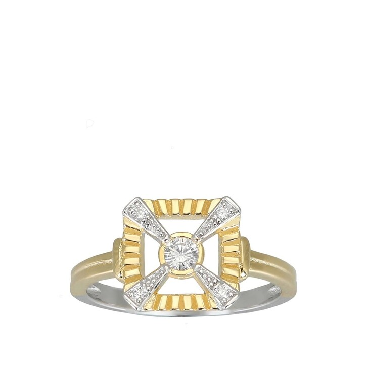 Ring, V by Laura Vann, Eleanor Ring  Bicolor