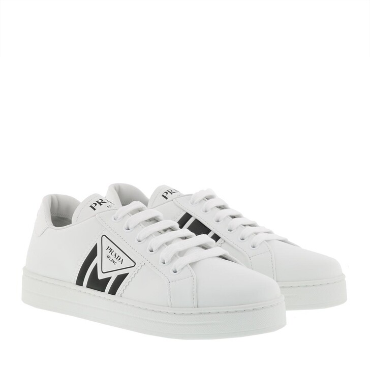 Schuh, Prada, Leather Sneakers White/Black