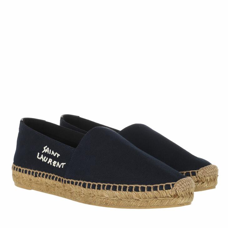 Schuh, Saint Laurent, Flats Navy Black Beige